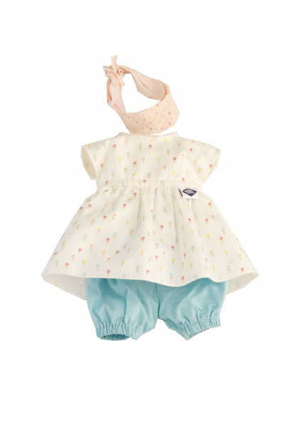 Kleidung zu Schmuserle/Löckchen 30 cm in blau/weiss