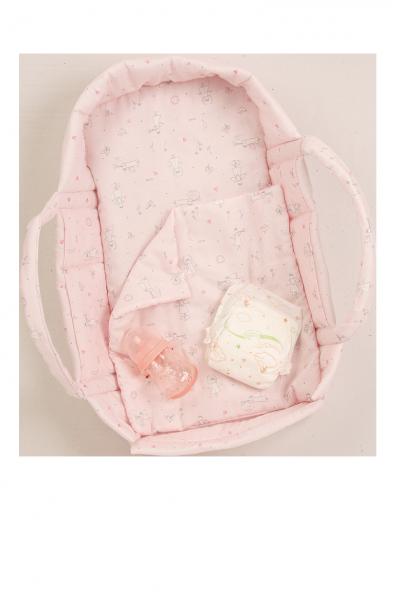 Wickeltragetasche für Puppen bis 45 cm in Farbe rose