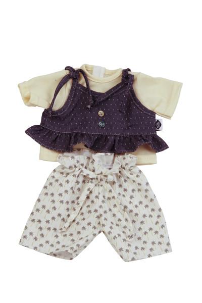 Kleidung zu Puppe 37 cm Schlummerle/Strampelchen/Schlenkerle/Lenchen gelb/blau/beige