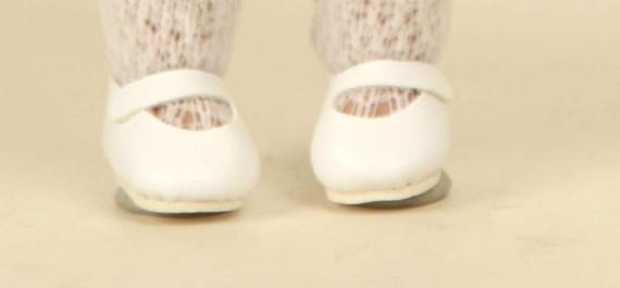 Schuhe Leder weiß