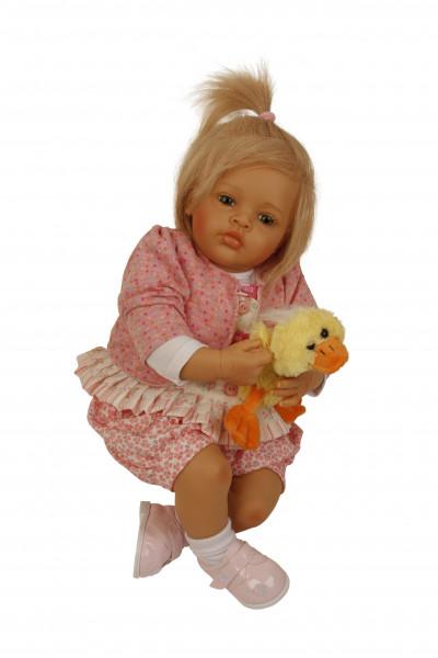 Baby Melissa 50 cm von Natali Blick blonde Haare, Kleidung pink/weiss-Copy