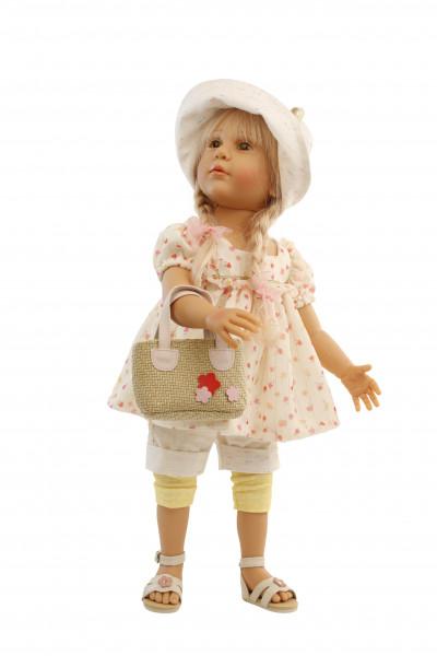 Puppe Isi 50 cm von Gudrun Legler blonde Haare, sommerliche Kleidung