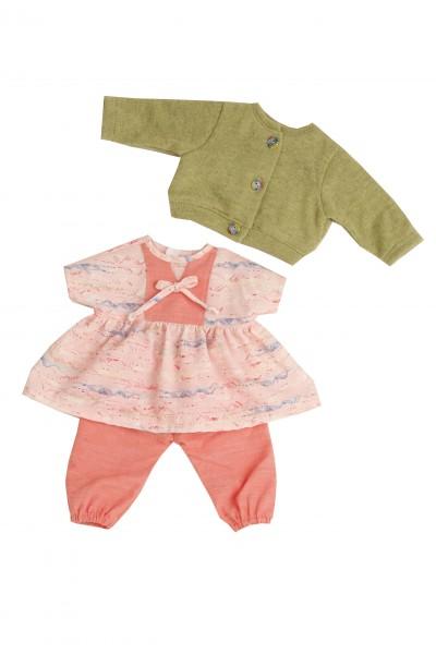 Kleidung zu Puppe 45 cm Susi/Hanni rot/grün/rose