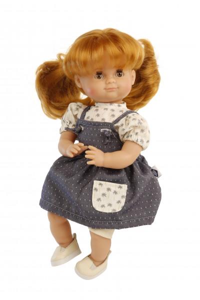 Kleidung zu Puppe Schlummerle 32 cm, Sommerkleidung creme/blau