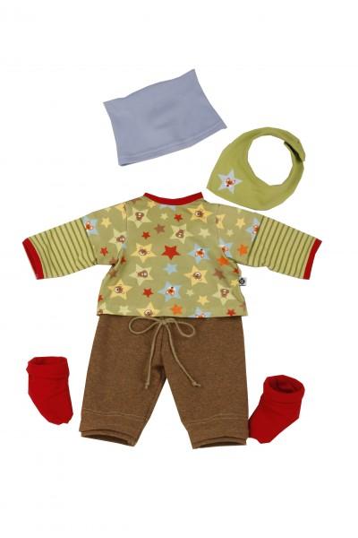 Kleidung zu Puppe 52 cm Peterle/Klara/Elli/Julchen braun/grün/blau