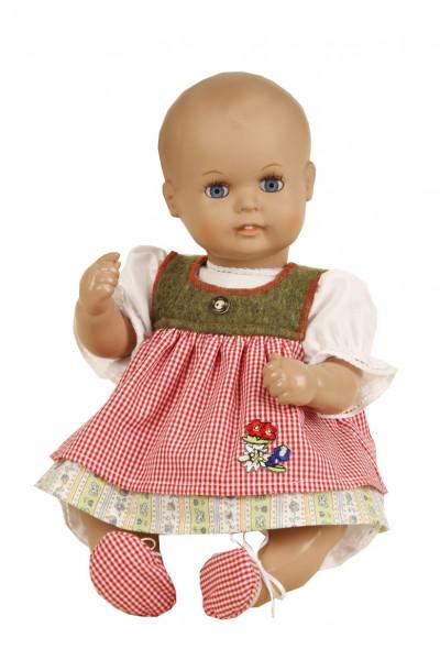 Baby Strampelchen 35 cm braune Malhaare, Trachtenkleidung