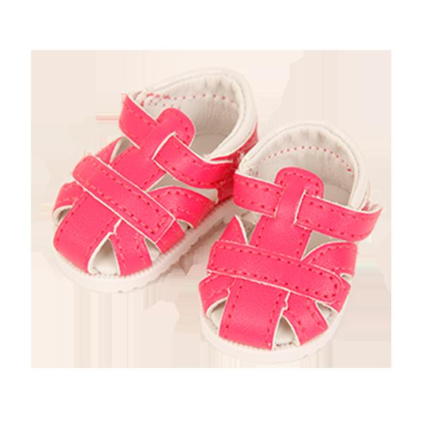 Sandalen zu Schlummerle 32 cm in beige und pink