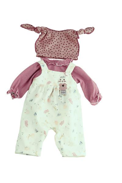Kleidung zu Puppe 52 cm Julchen/Peterle/Klara/Elli rot/weiss/rose
