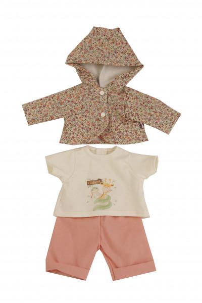 Kleidung zu Puppe 45 cm Hanni/Susi in rose/weiss