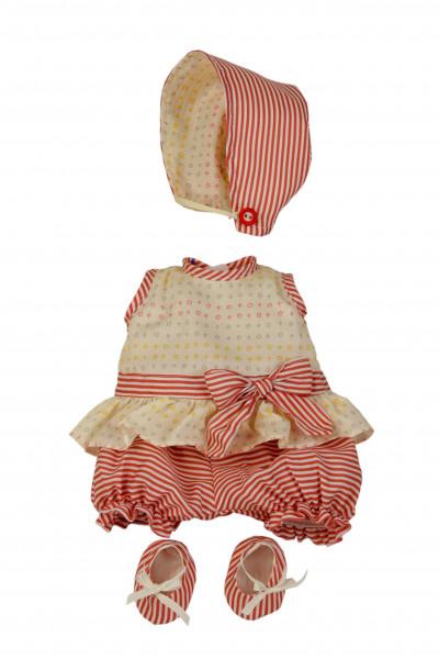 Kleidung zu Baby Strampelchen 31+35+45 cm rose/weiss