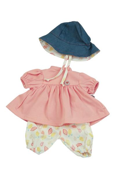 Kleidung zu Puppe 37 cm Schlummerle/Strampelchen/Schlenkerle/Lenchen gelb/weiss/rose/blau