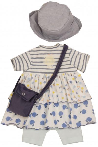 Kleidung zu Stehuppe Elli 52 cm weiss/gelb/blau