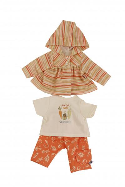 Kleidung zu Puppe 45 cm Susi/Hanni orange/beige