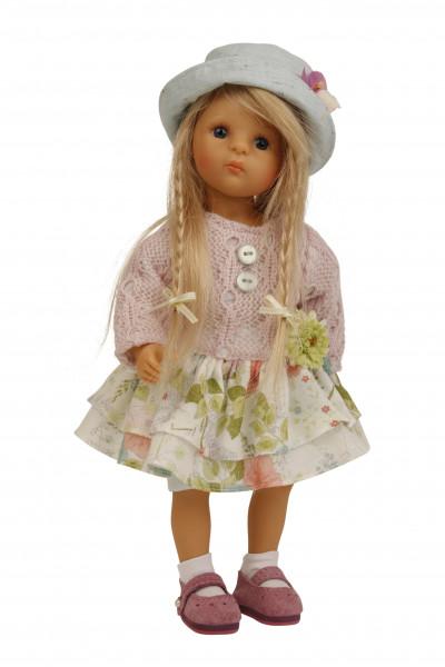 Lisa von Sieglinde Frieske 28 cm, blonde Haare, Kleidung rose,weiss, mint