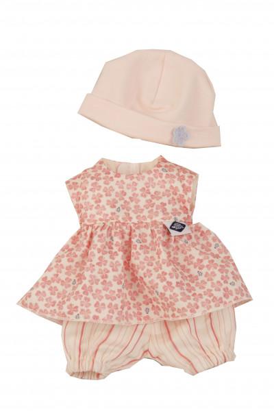 Kleidung zu Puppe Mein 1. Baby 28 cm rose/weiss